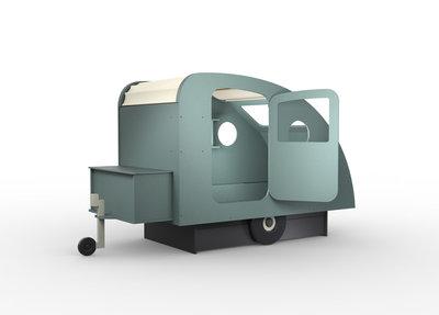 Mathy by Bols design Caravan bed 90x190 Donker grijs L.GR OR