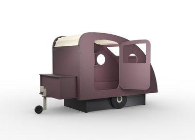 Mathy by Bols design Caravan bed 90x190 Donker paars L.VI CU
