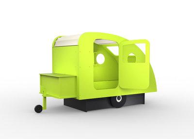 Mathy by Bols design Caravan bed 90x190 Appel groen L.VE PO
