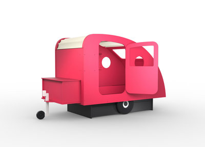 Mathy by Bols design Caravan bed 90x190 Fucshia roze L.RO ET