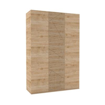 Almila Origami 3 deurs kledingkast eiken
