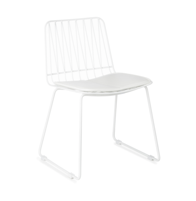 Kidsdepot Hippy metalen stoel white
