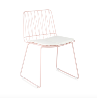 Kidsdepot Hippy metalen stoel pink