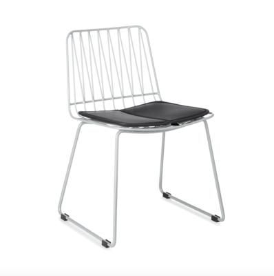 Kidsdepot Hippy metalen stoel silver grey