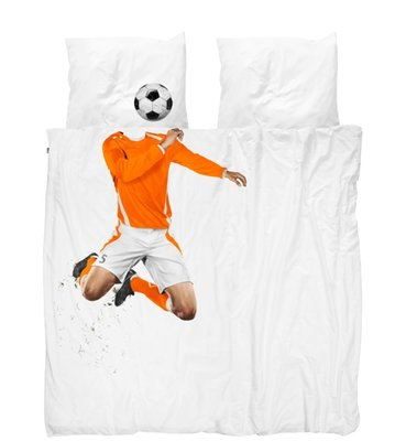 Snurk dekbedovertrek Soccer Orange 200x200/220