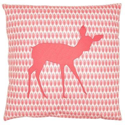 Taftan Hertje roze kussen 50x50