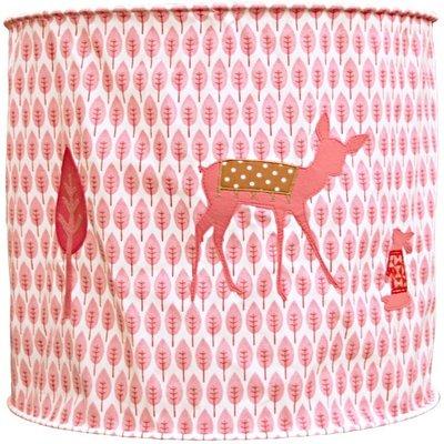 Taftan Hertje roze hanglamp zacht