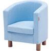 Hoppekids peuter club fauteuil licht blauw