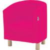 Hoppekids peuter club fauteuil pink