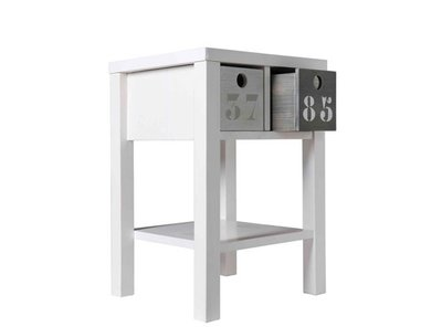Bopita Basic wood nachtkastje grenen white wash