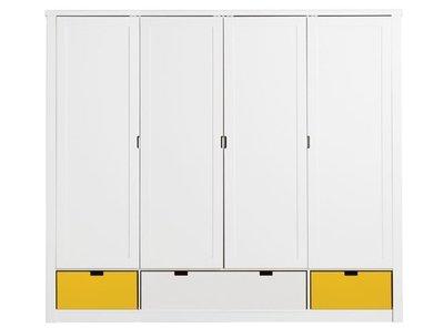 Bopita 4 deurs mix & match de Luxe kleding kast +3 bakken wit