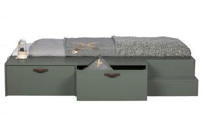 VT Wonen Stage bed met lades grenen 80x200 Soap green