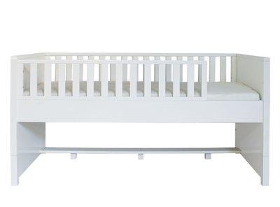 Bopita Nordic compactbed 90x200 met uitvalbescherming wit