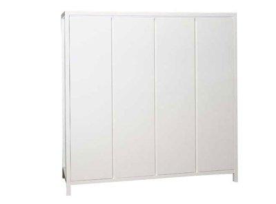Bopita Corsica 4 deurs kleding kast wit