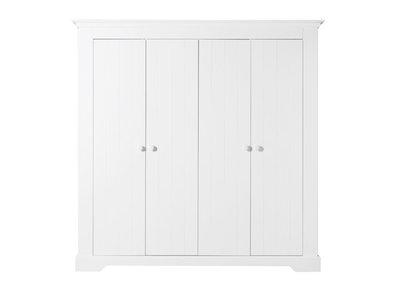 Bopita Narbonne 4 deurs kleding kast wit