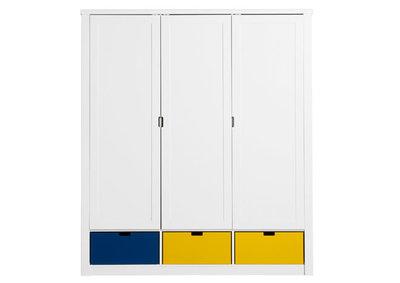 Bopita mix & match 3 deurs de Luxe kleding kast wit +3 bakken