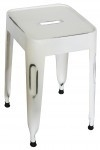 Kidsdepot Pure metalen kruk old white