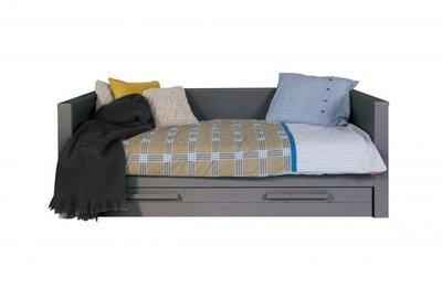 Woood Dennis 5 delige kamer met bedbank 90x200 grenen staal grijs