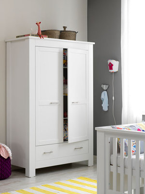 Coming kids New Basic 2 deurs kleding kast wit