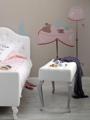 Coming kids tiener Lynn gestoffeerd bed 90x200
