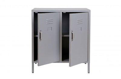 Woood Max 2 deurs lage kast metaal grijs