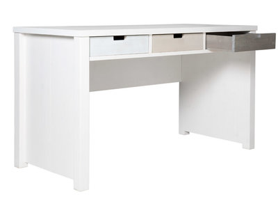 Bopita Basic wood bureau grenen white wash