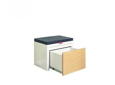 Bopita Kobe boekenkast met lade 45 wit