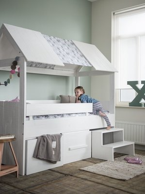 Coming kids Salty slaaphut bed 90x200 grenen wit