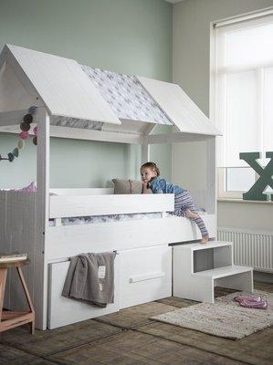 Coming kids Salty slaaphut bed 90x200 grenen wit