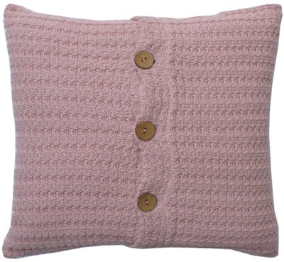 Kidsdepot Manta - cable kussen pink