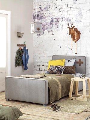 Stapelgoed Skip gestoffeerd tiener bed 90 x 200