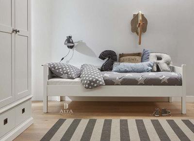 Alta 5010 bedbank 90x200 grenen + mdf wit