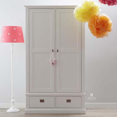Alta 5392 2 deurs kleding kast grenenhout wit