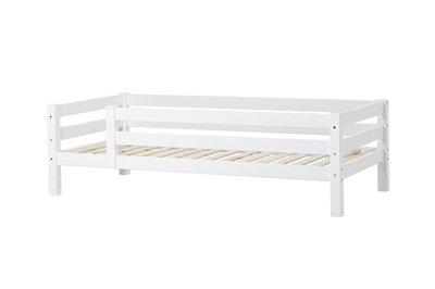 Hoppekids premium XXL 90x200 bed met 3/4 uitvalbescherming grenen wit