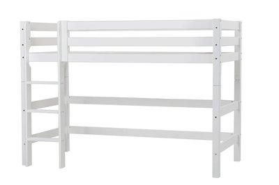 Hoppekids middel hoogslaper premium XXL 90 x 200 rechte trap grenen wit