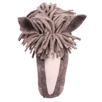Kidsdepot Dierenkop paard bruin/wit