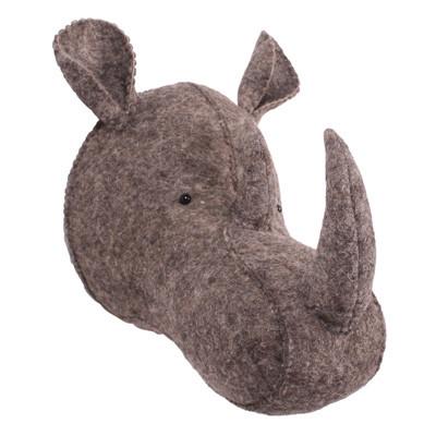 Kidsdepot Dierenkop neushoorn bruin