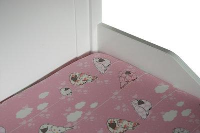 Bink bedding hoeslaken 90x200 Sparrow roze