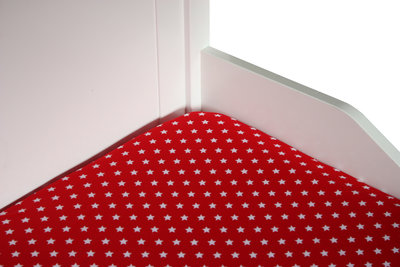 Bink bedding hoeslaken 70x150 Little star rood