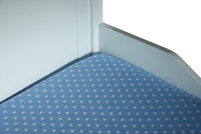 Bink bedding hoeslaken 70x150 Little star blauw