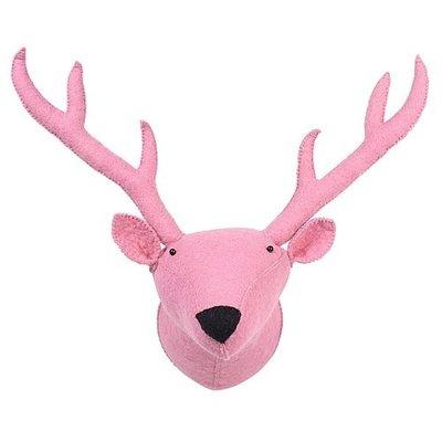 Kidsdepot Dierenkop rendier pink