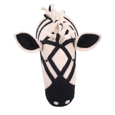 Kidsdepot Dierenkop zebra zwart/wit