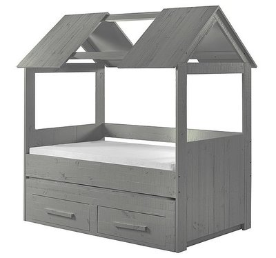 Coming kids Zanzi slaaphut bed 90x200 grenen grijs