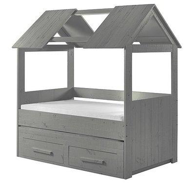 Coming kids Zanzi slaaphut bed 90x200 grenen grijs