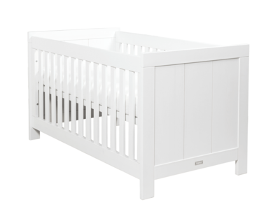 Bopita Basic wood cot bed 70x140 grenen white wash