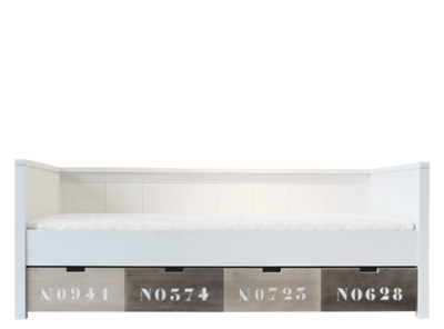 Bopita Basic wood bedbank 90x200 grenen white wash