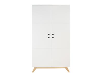 Bopita Lynn 2 deurs design kleding kast wit - naturel