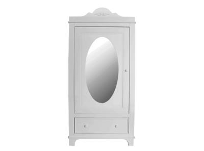 Bopita Romantic 1 deurs spiegel kast wit