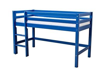 Hoppekids blauw Basic halfhoogslaper 90 x 200