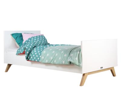 Bopita Lynn tiener bed 90x200 wit - naturel